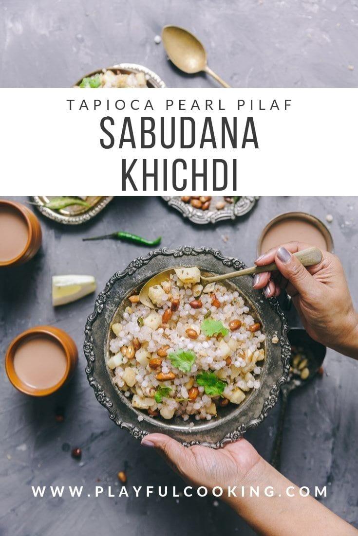 Sabudana  Khichdi (Tapioca Pilaf) 2