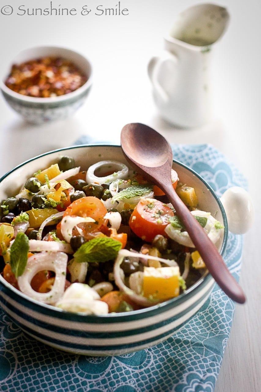 Green Chickpea Salad with Yogurt Dressing 3