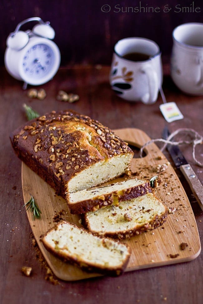 Rosemary-Walnut Loaf Cake 1
