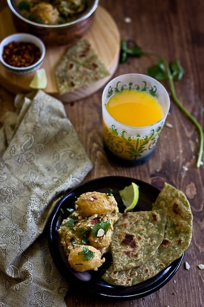 Dum Aalu - Bite Size Potatoes In Yogurt Gravy 5