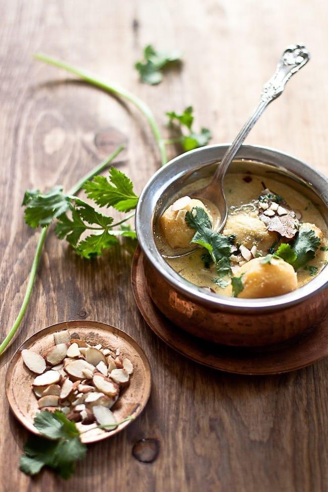 Dum Aalu - Bite Size Potatoes In Yogurt Gravy 4