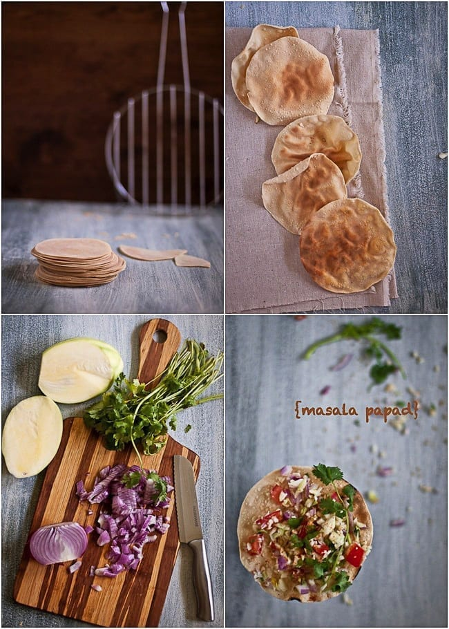 Masala Papad -- A healthy and light appetizer 2