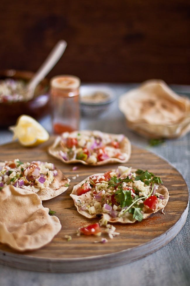Masala Papad -- A healthy and light appetizer 4