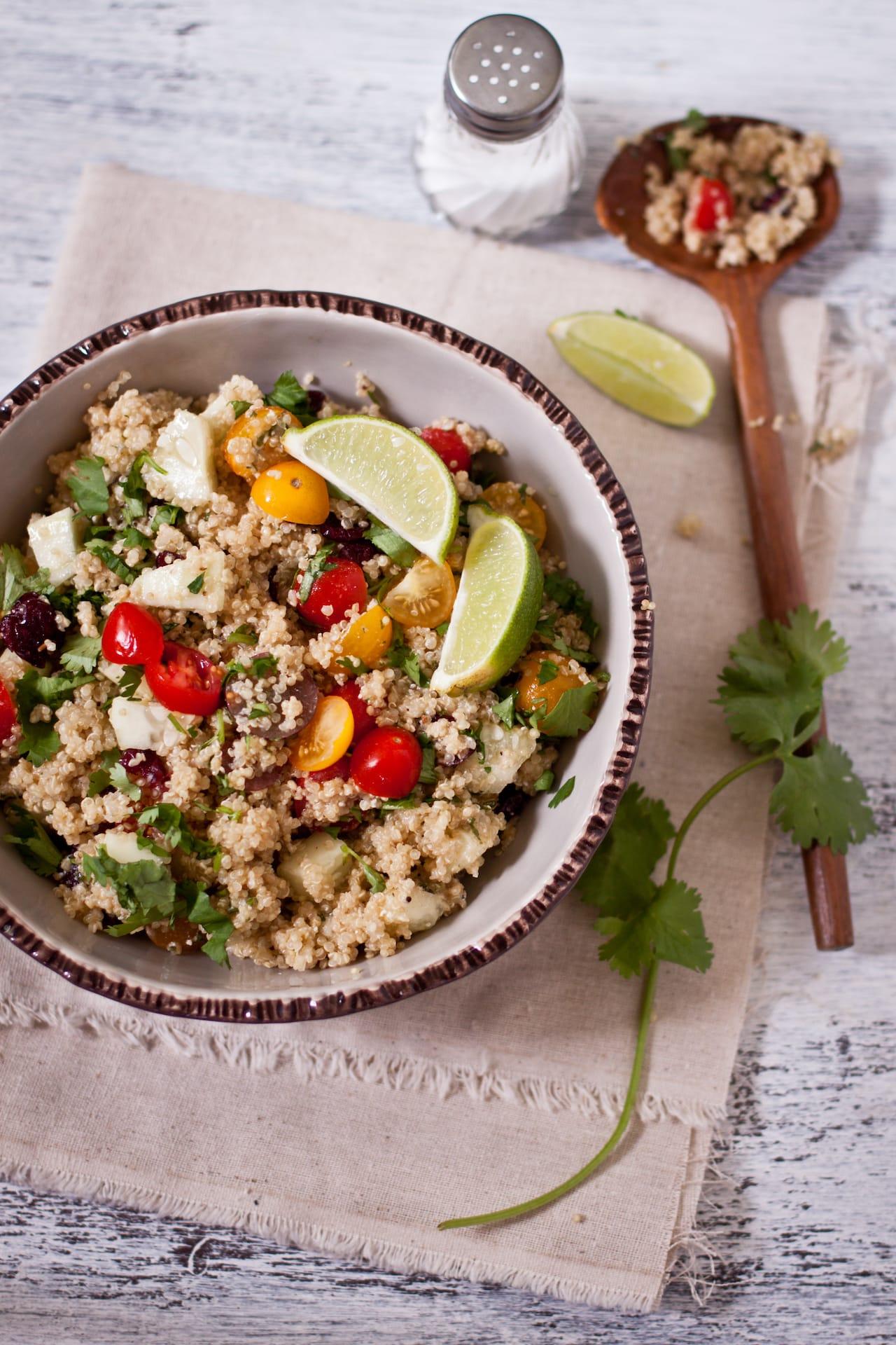 Quinoa Salad with Ricotta and Garam Masala Dressing 1