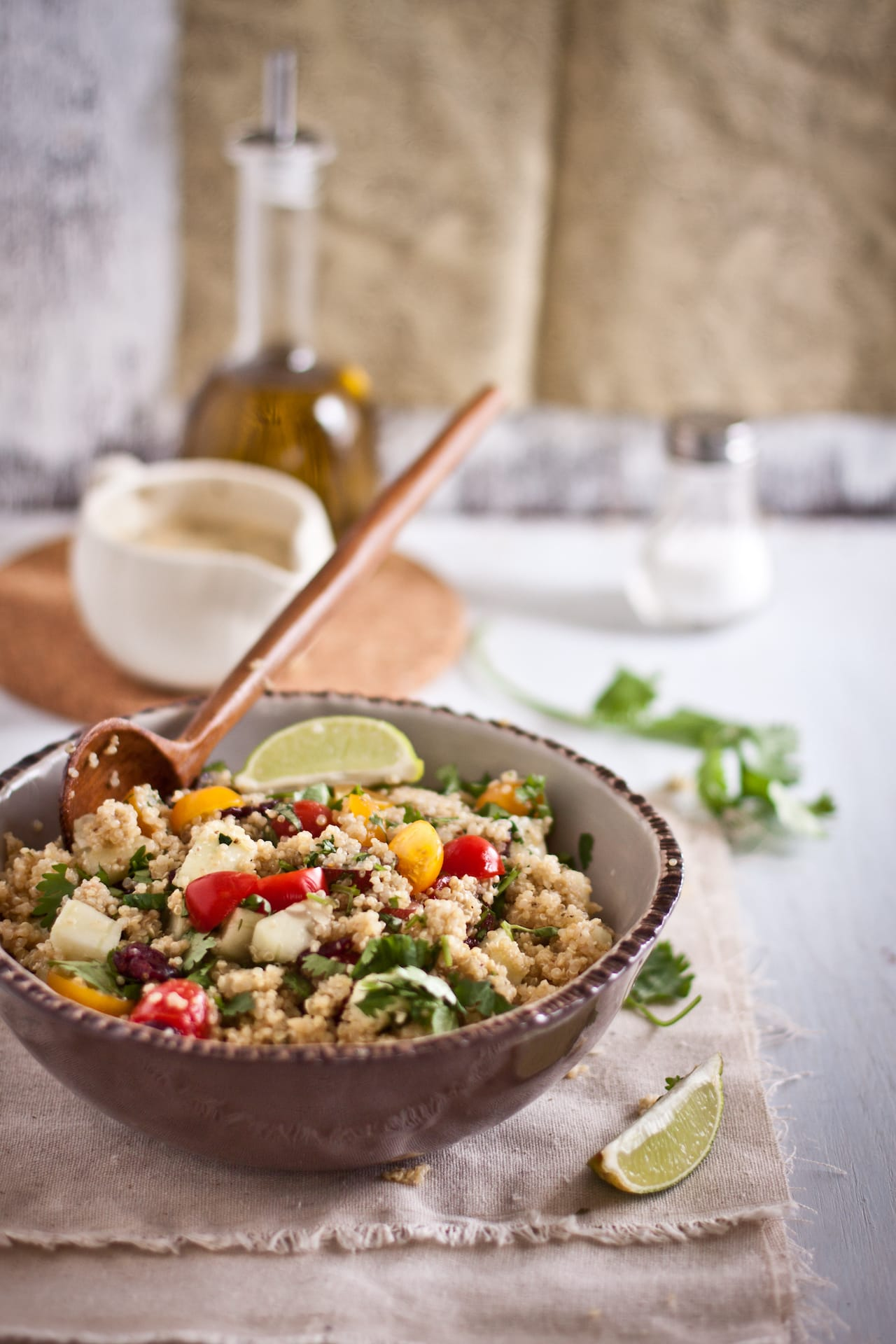 Quinoa Salad with Ricotta and Garam Masala Dressing 2