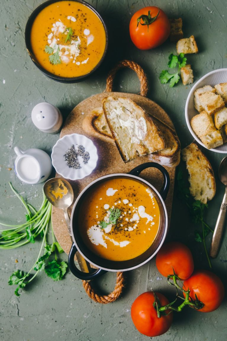 Spiced Tomato Soup | Playful Cooking #soup #tomato #foodphotography #indianrecipe #tomatoshorba