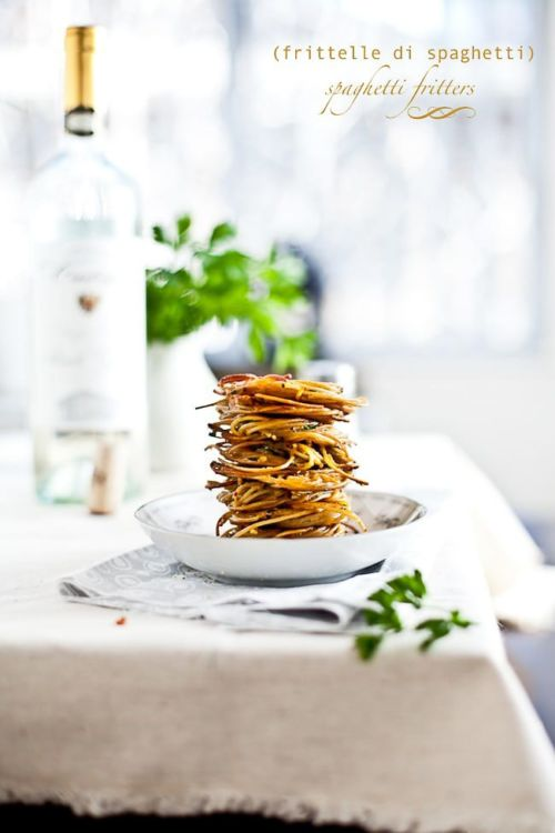 Spaghetti Fritters : Playful Cooking