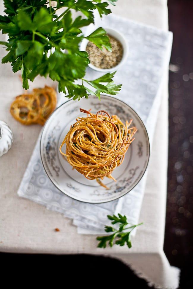 Spaghetti Fritters : Sunshine and Smile