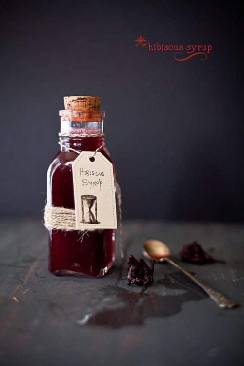 hibiscus syrup @ Playful Cooking