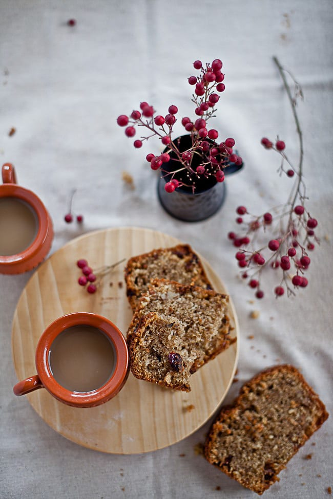 fruit and nut coffee cake @ Sunshine and Smile