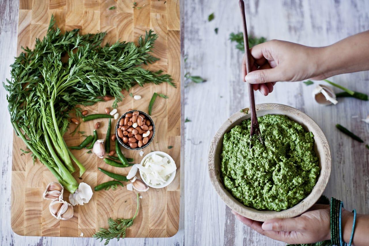 Carrot Green Sauce | Playful Cooking