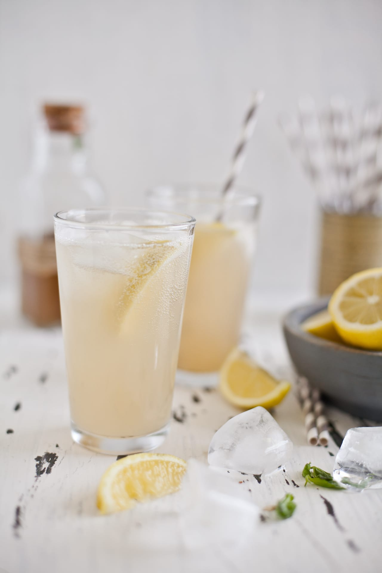 Ginger Lemongrass Basil Spritzer | Playful Cooking