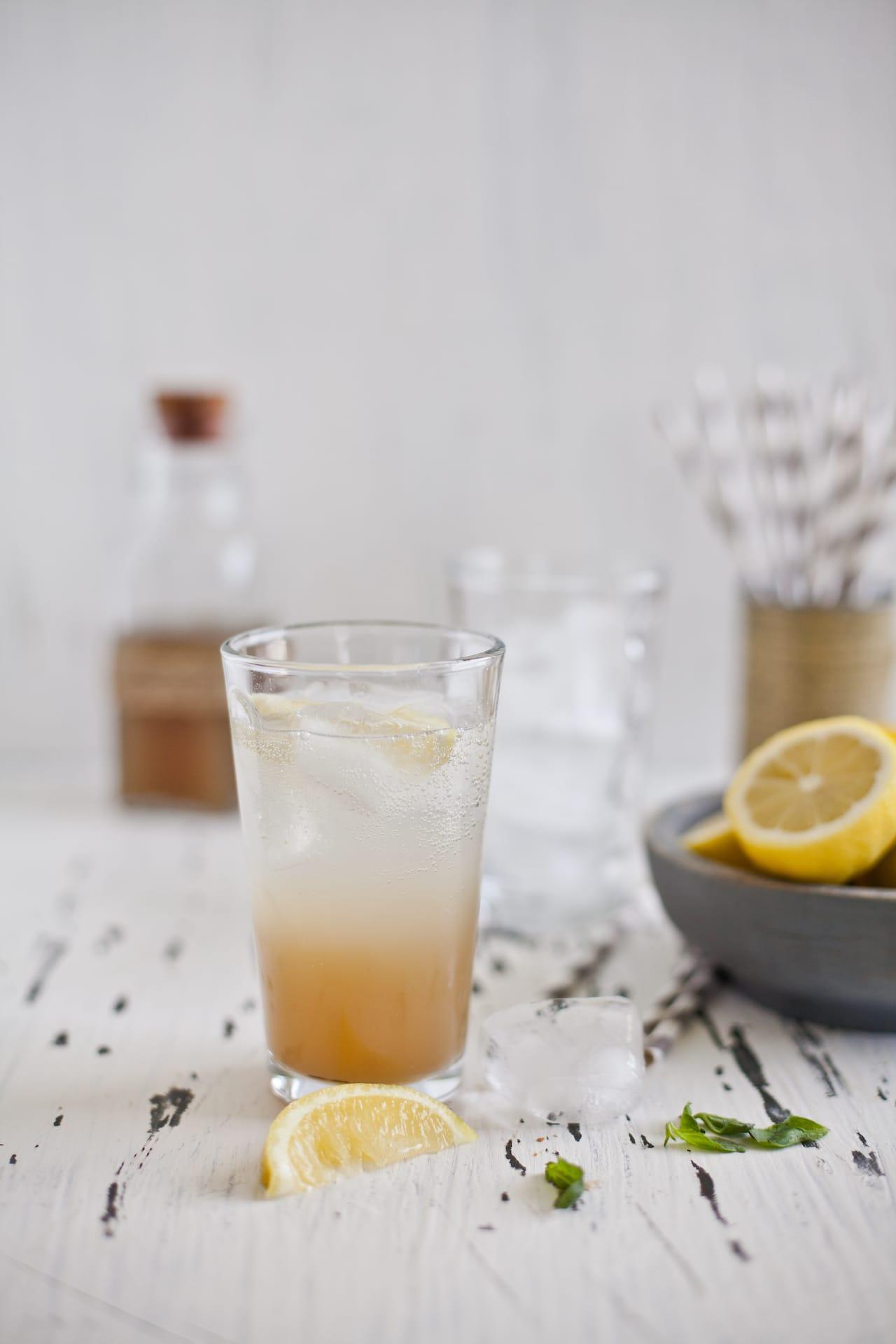 Ginger Lemongrass Basil Spritzer   Playful Cooking