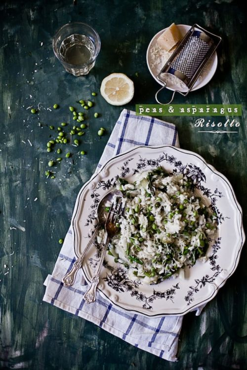 Peas and Asparagus Risotto | Playful Cooking