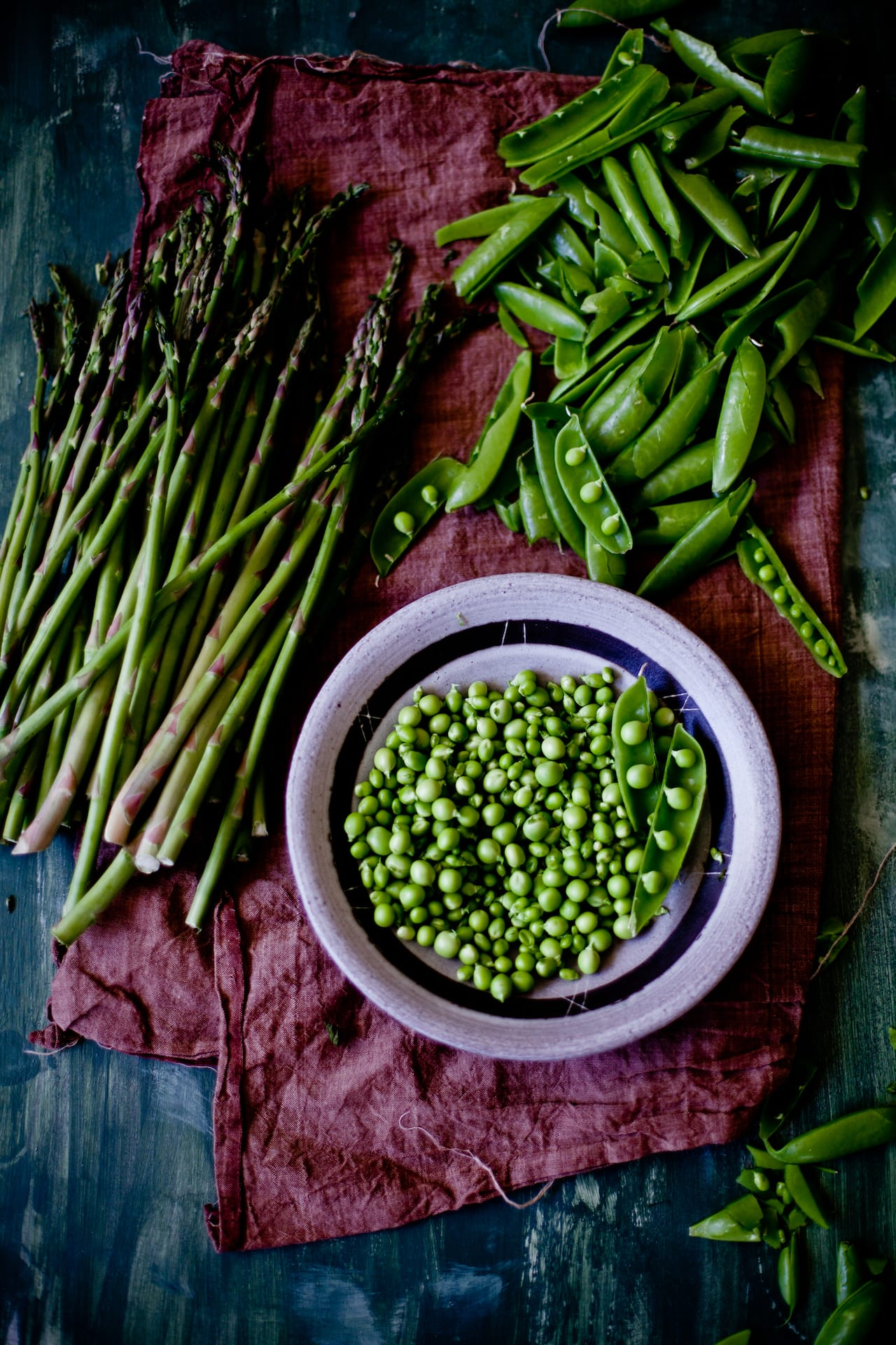 Fresh Peas and Thin Asparagus | Playful Cooking