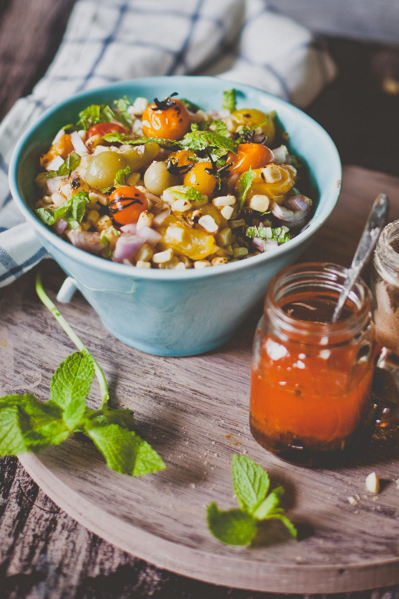Grilled Corn and Heirloom Tomatoes Salad | Playful Cooking