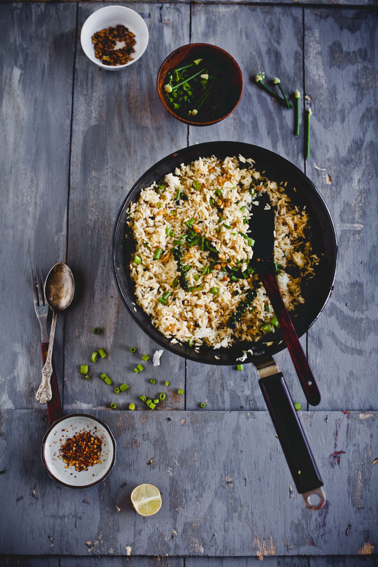 Garlic and Fresh Peppercorn Fried Rice   Playful Cooking