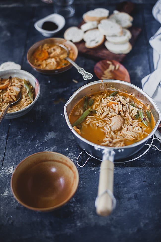 Fish And Orzo Coconut Soup   Playful Cooking