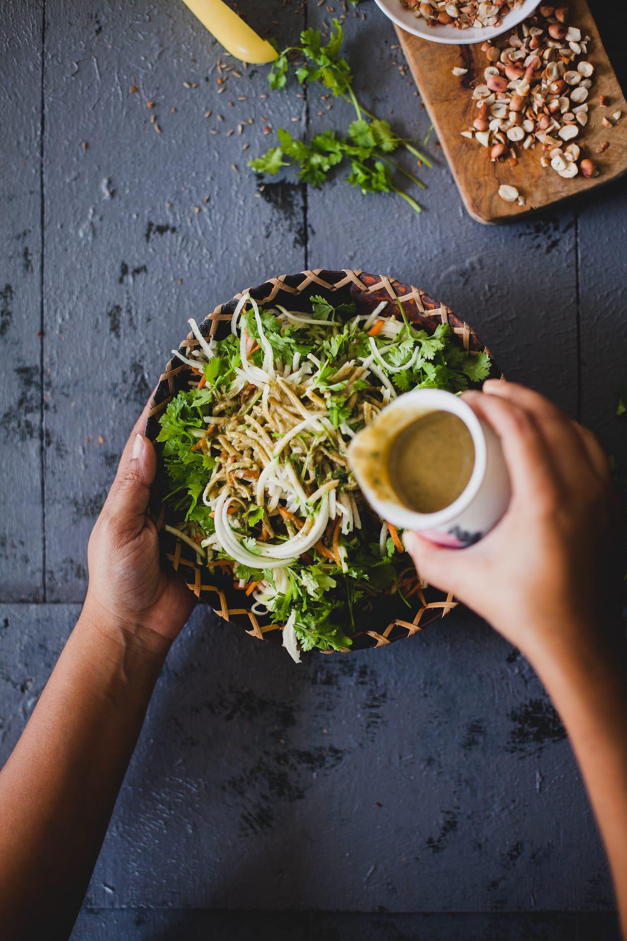 Spicy Mackerel Raw Papaya Salad| Playful Cooking