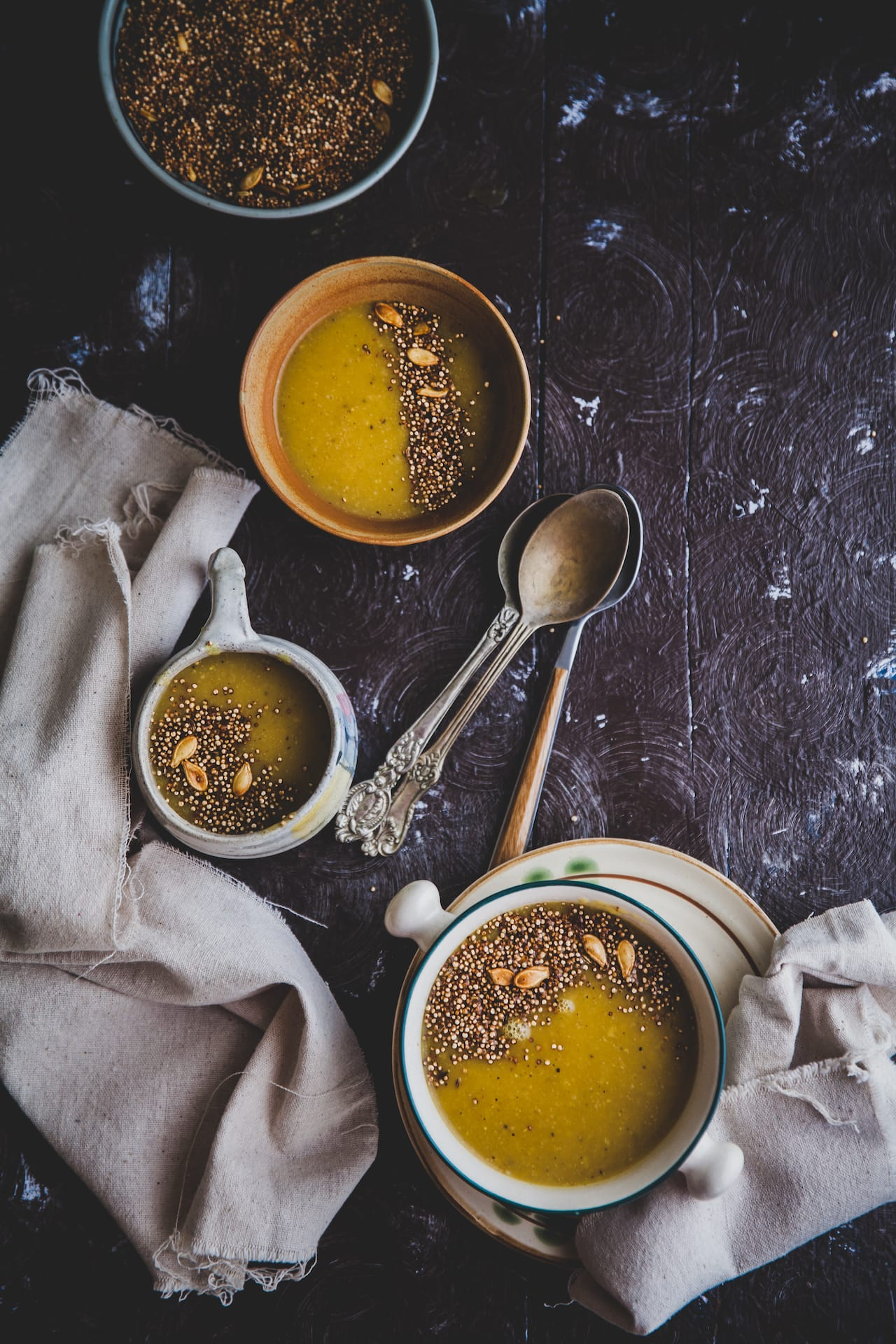 Pumpkin Soup With Toasted Quinoa   Playful Cooking #soup #pumpkin #quinoa