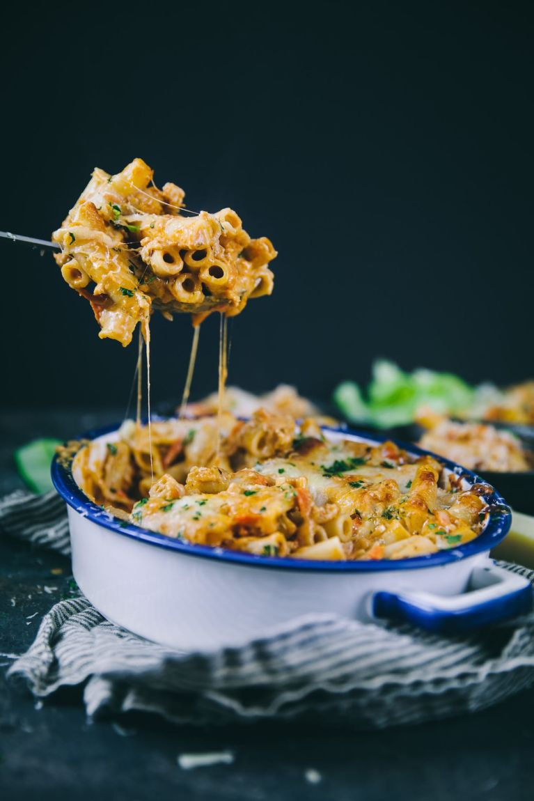 Chicken Bolognese Baked Ziti | Playful Cooking