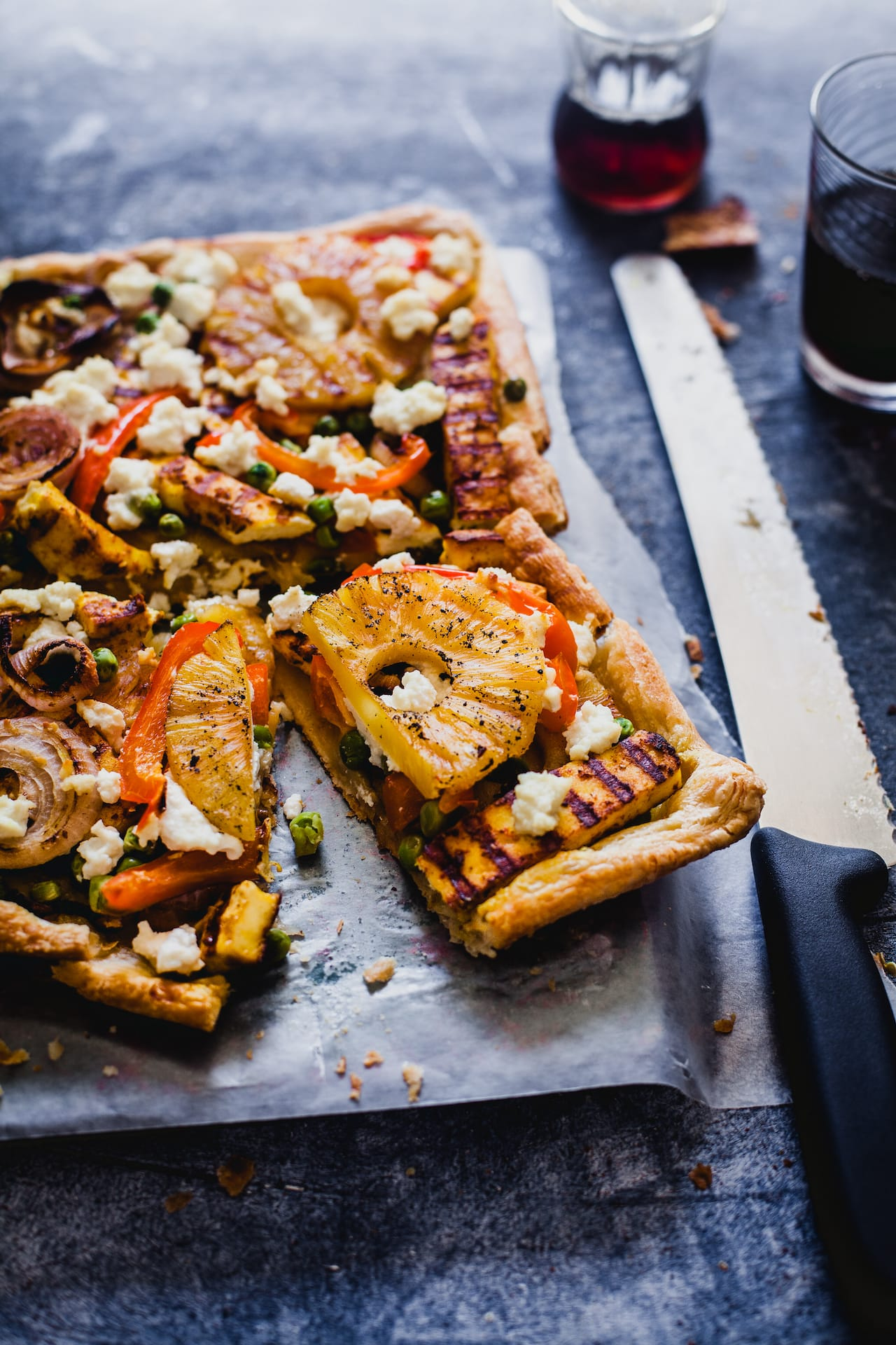Grilled Paneer and Pineapple Tart | Playful Cooking