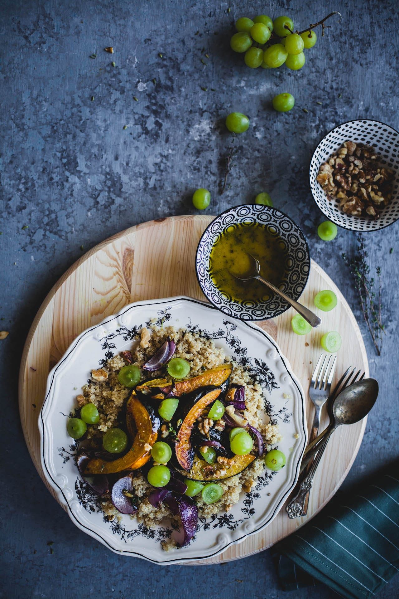 Fennel Roasted Acorn Squash With Quinoa | Playful Cooking