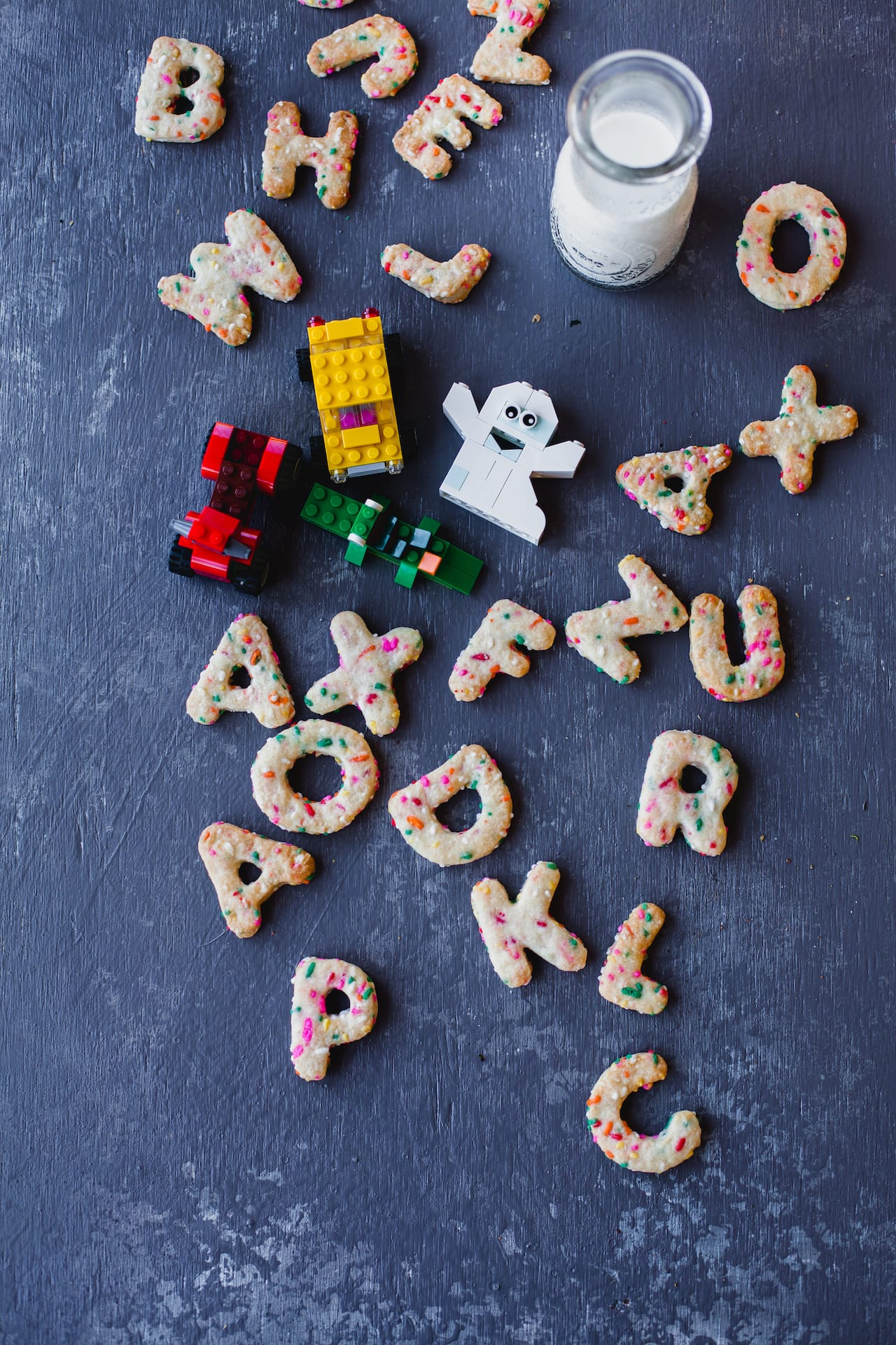 Rainbow Sprinkled Alphabet Cookies | Playful Cooking