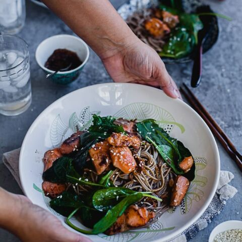 Soba Noodles With Salmon | Playful Cooking