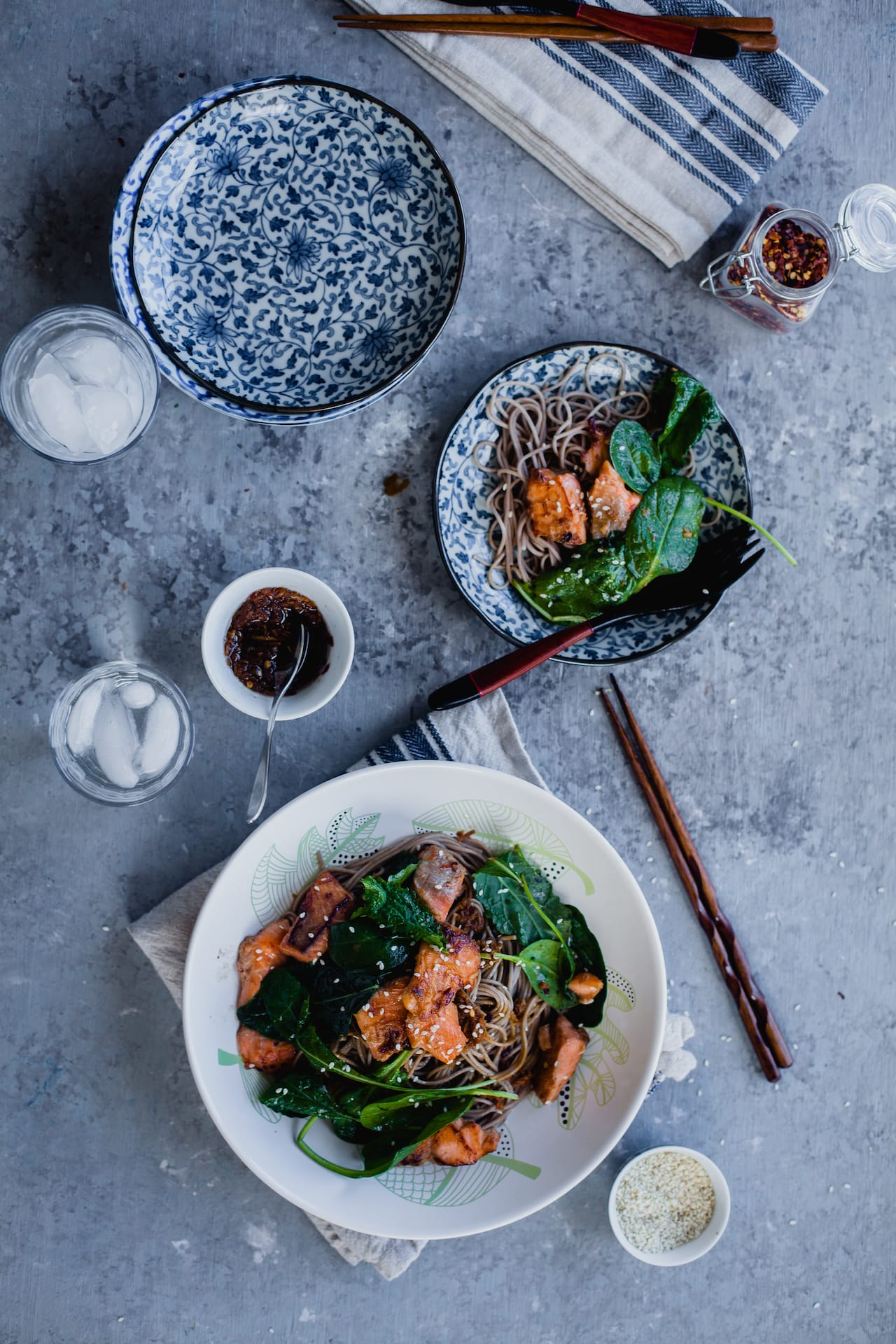 Soba Noodles With Salmon 5