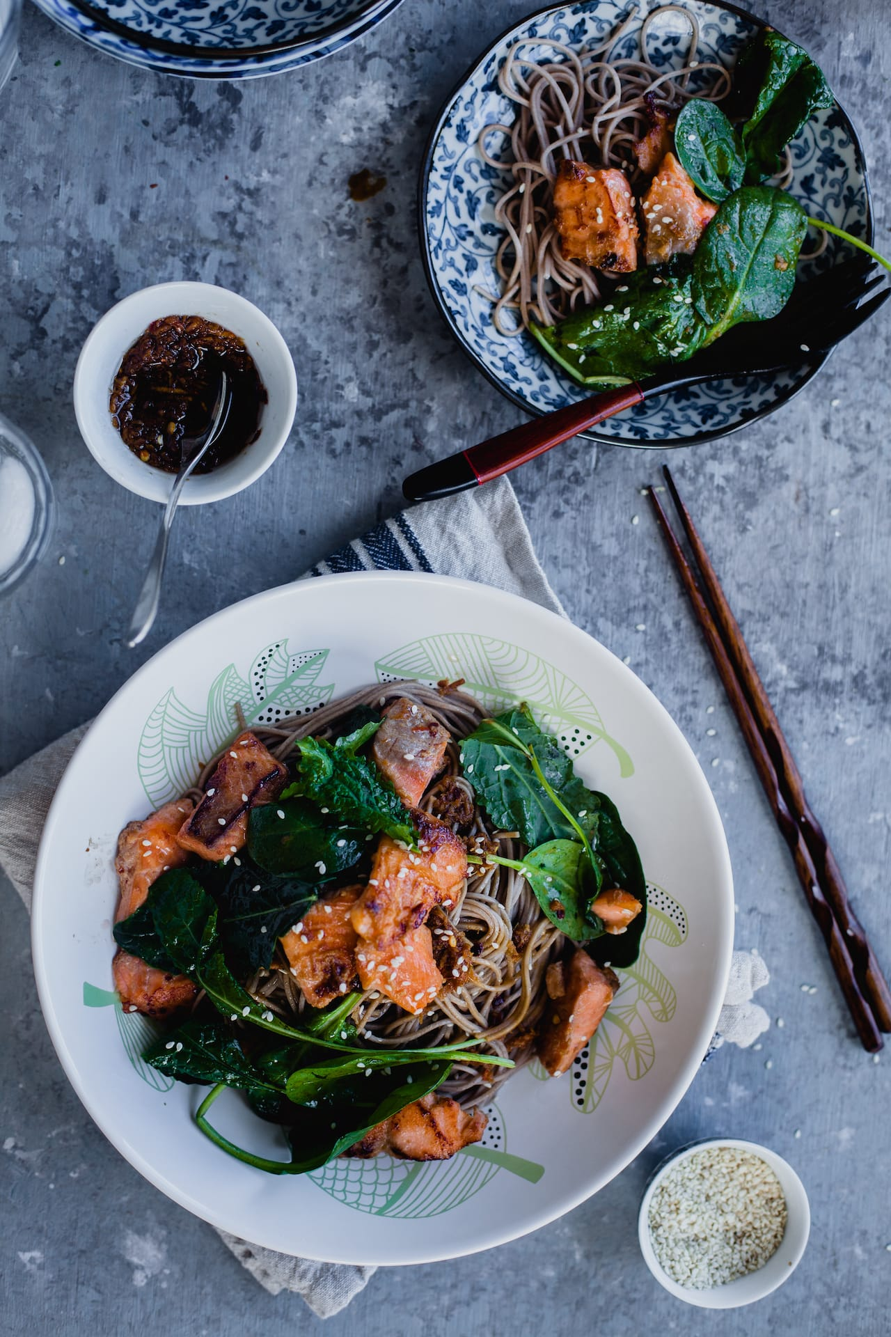 Soba Noodles With Salmon 6