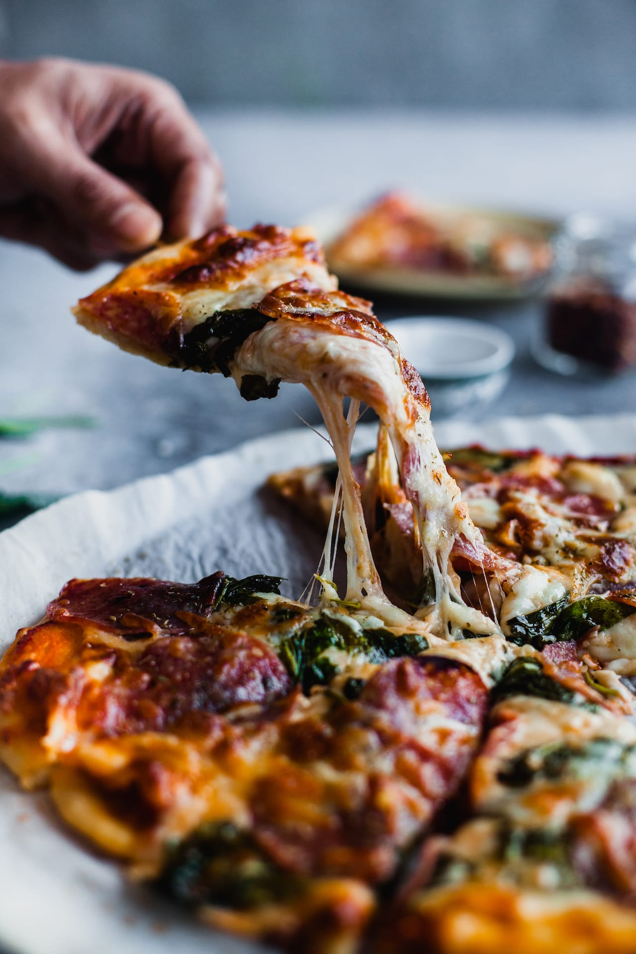 Spinach Kale Salami Pizza | Playful Cooking
