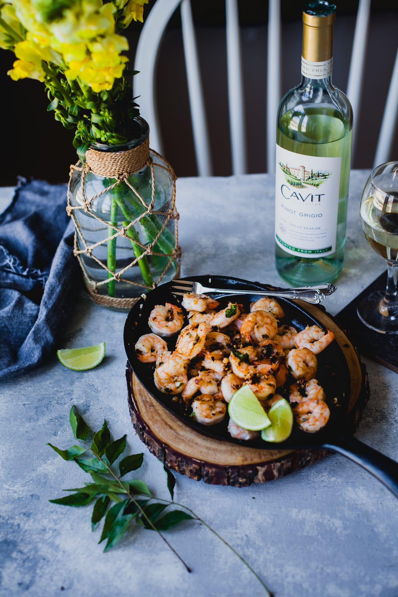 Curry Leaves And Garlic Shrimp Zoodles - Playful Cooking