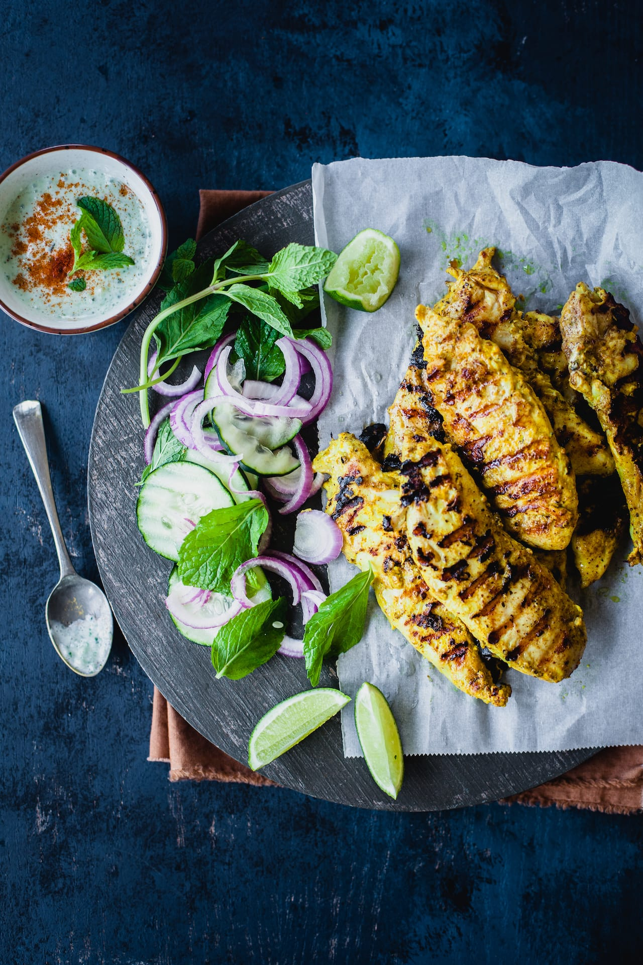 Garam Masala Grilled Chicken Tenders | Playful Cooking