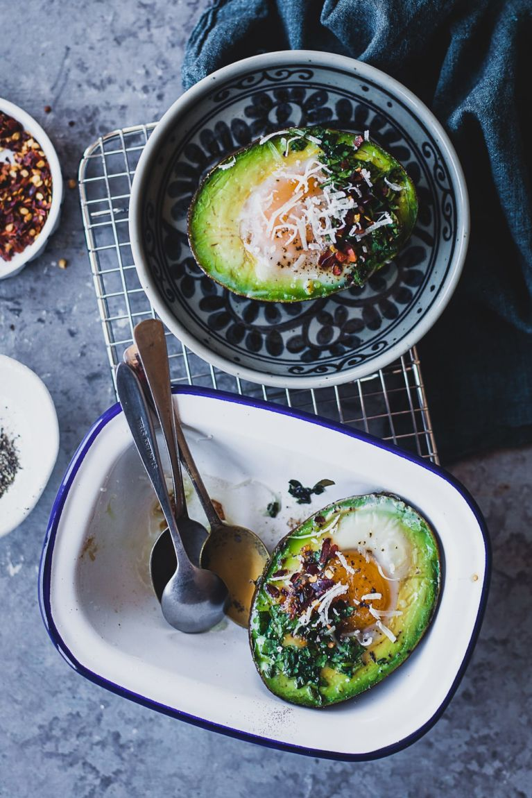 Egg Spinach Baked Avocado | Playful Cooking