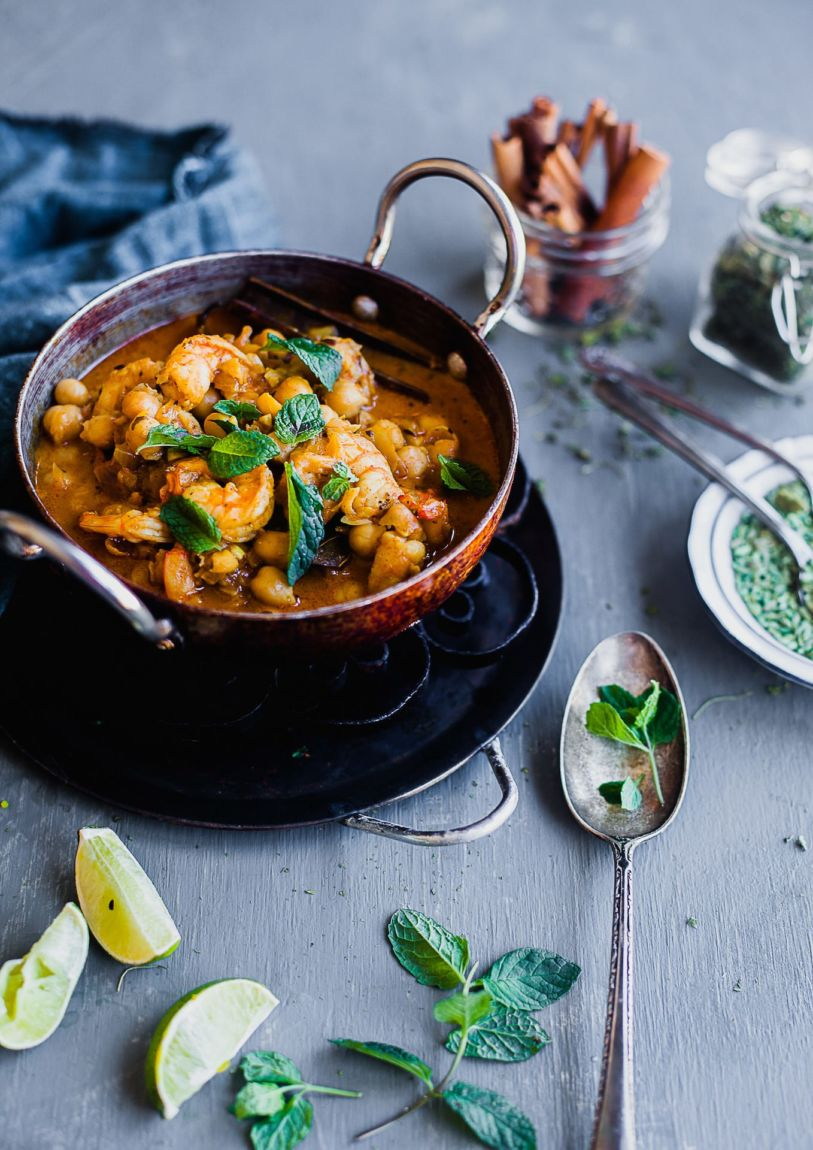 Chickpea And Shrimp Makhani | Playful Cooking
