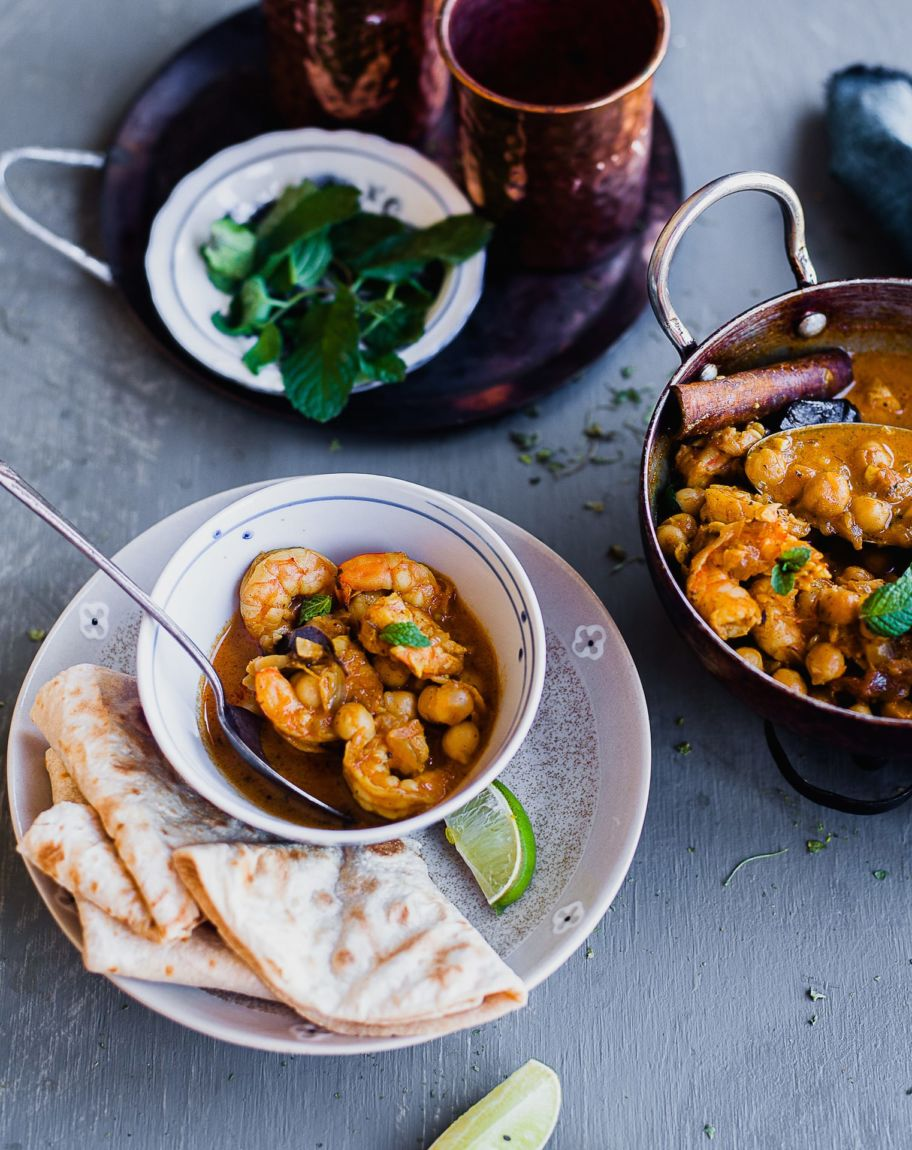 Chickpea And Shrimp Makhani   Playful Cooking