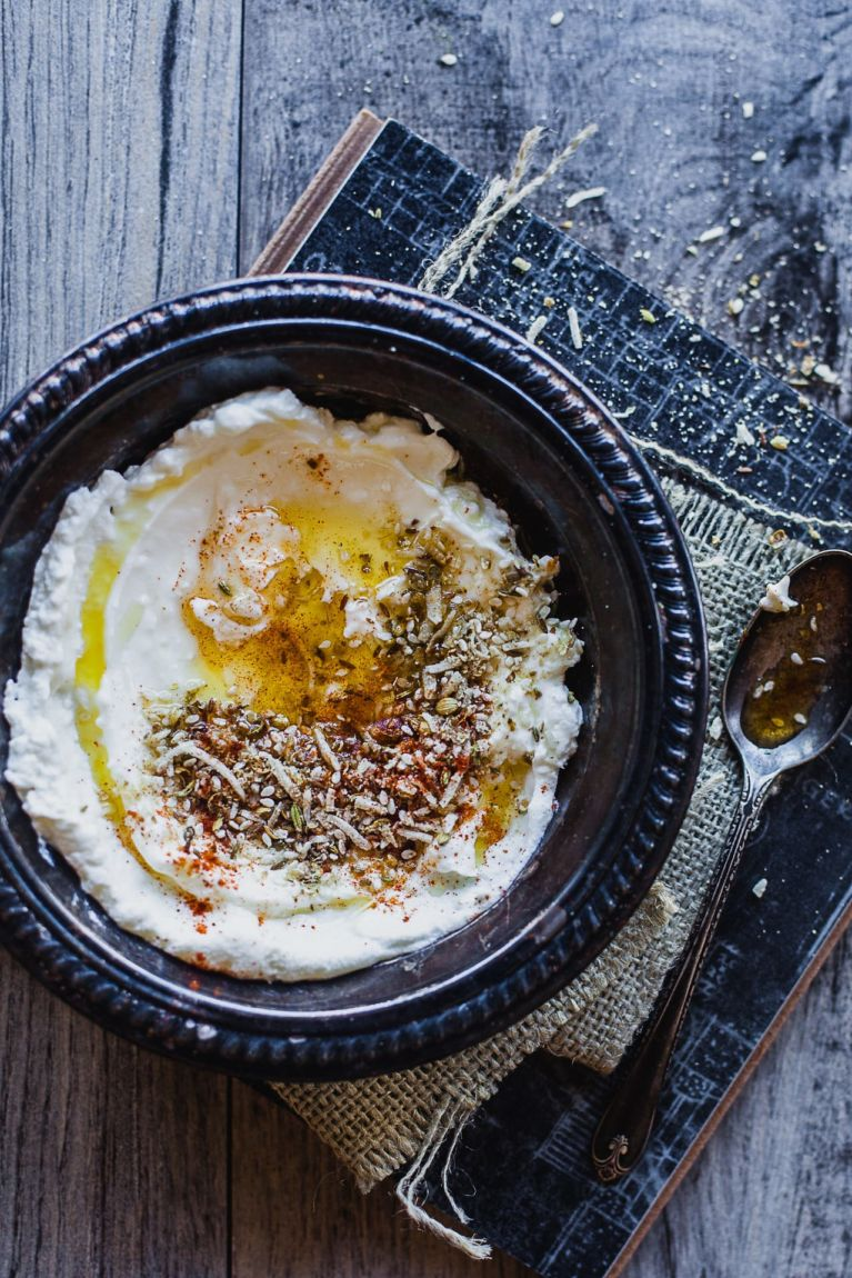 Broken Wheat Dukkah Fritters With Labneh   Playful Cooking