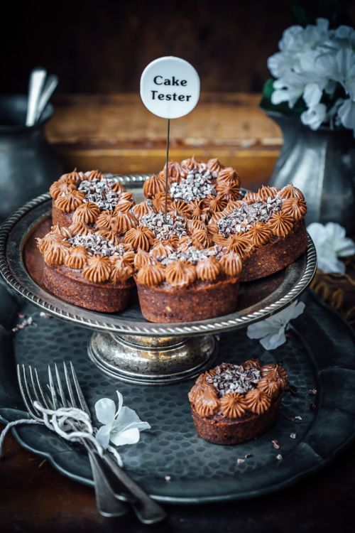 Chocolate Hazelnut Friands with Chocolate Cream Cheese Frosting (by Sonali Ghosh) | Playful Cooking