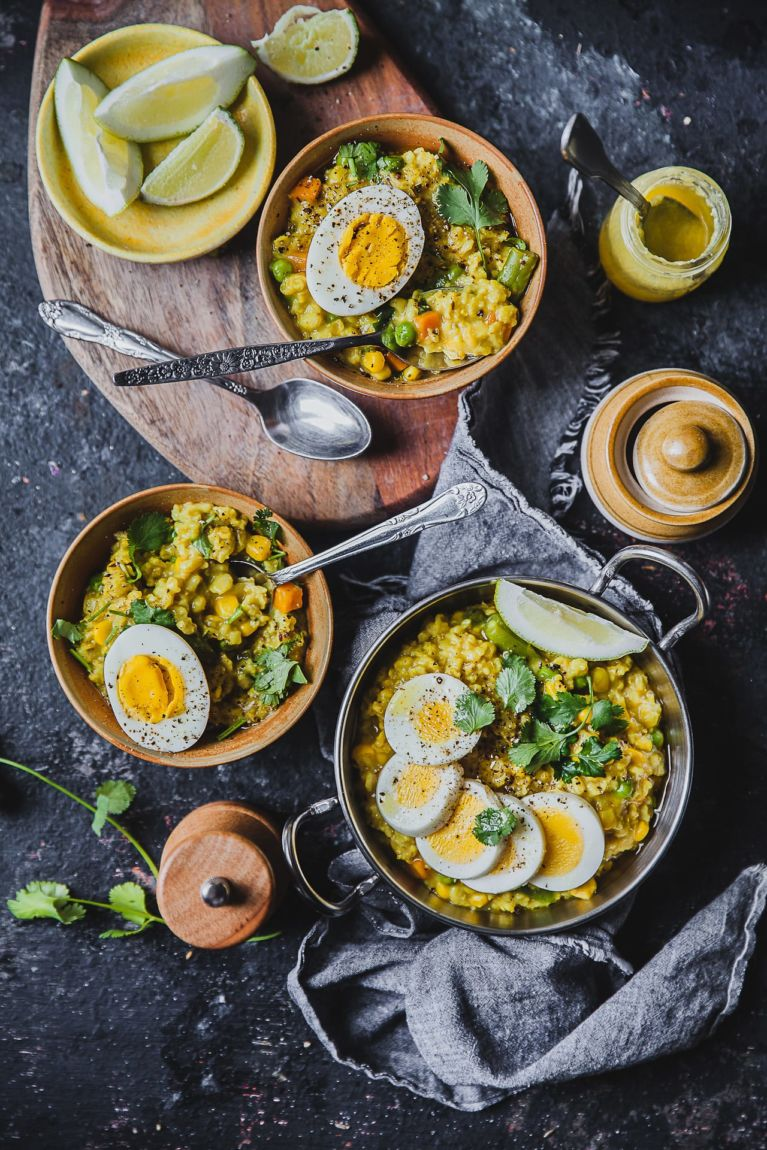 Mixed Vegetable Savory Oatmeal | Playful Cooking