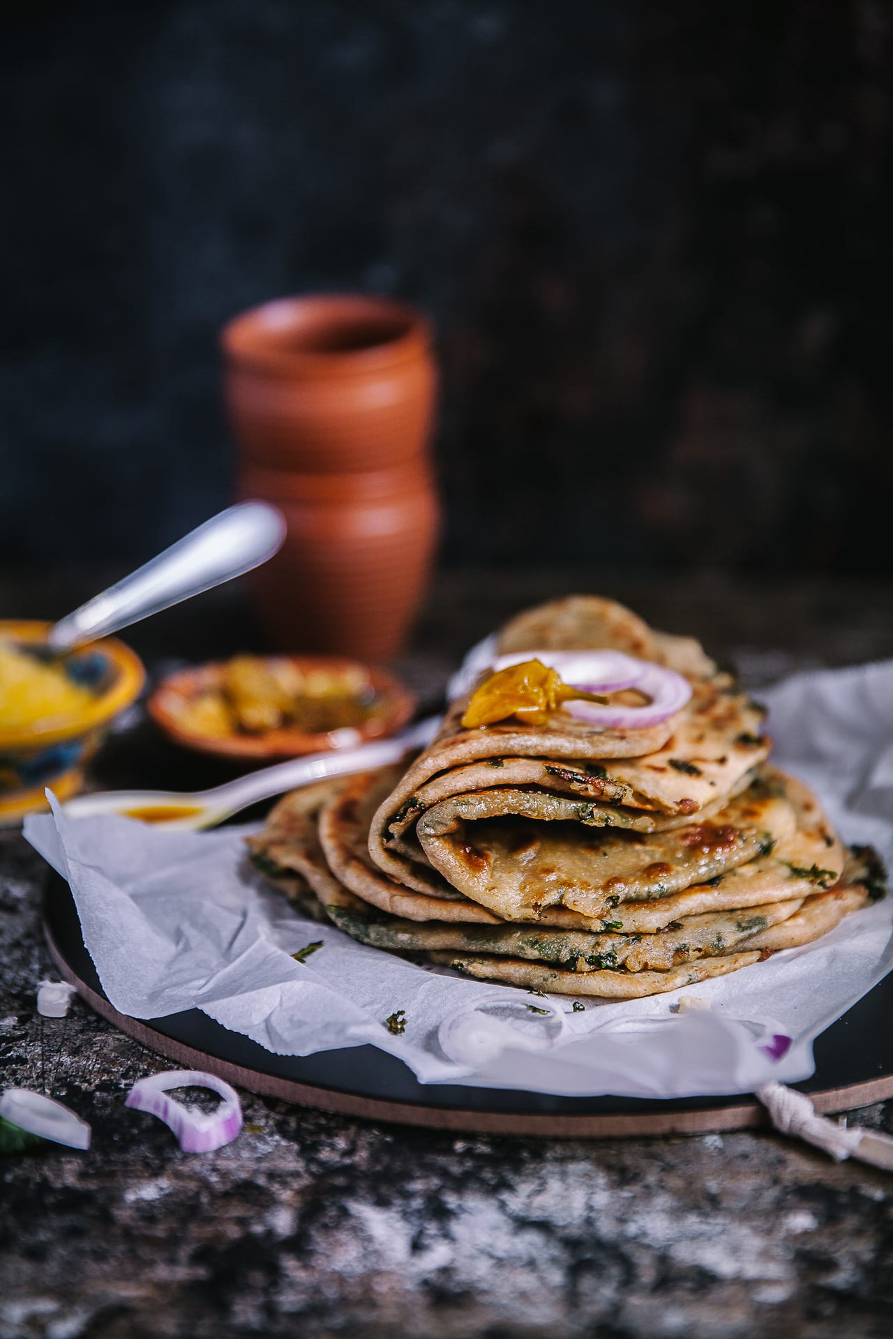 Nutritional and healthy, Potato Kale Whole Wheat Paratha! #comfortfood #indian #bread #paratha