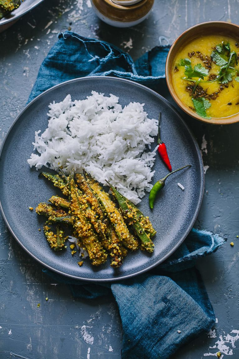Rice and Okra   Playful Cooking