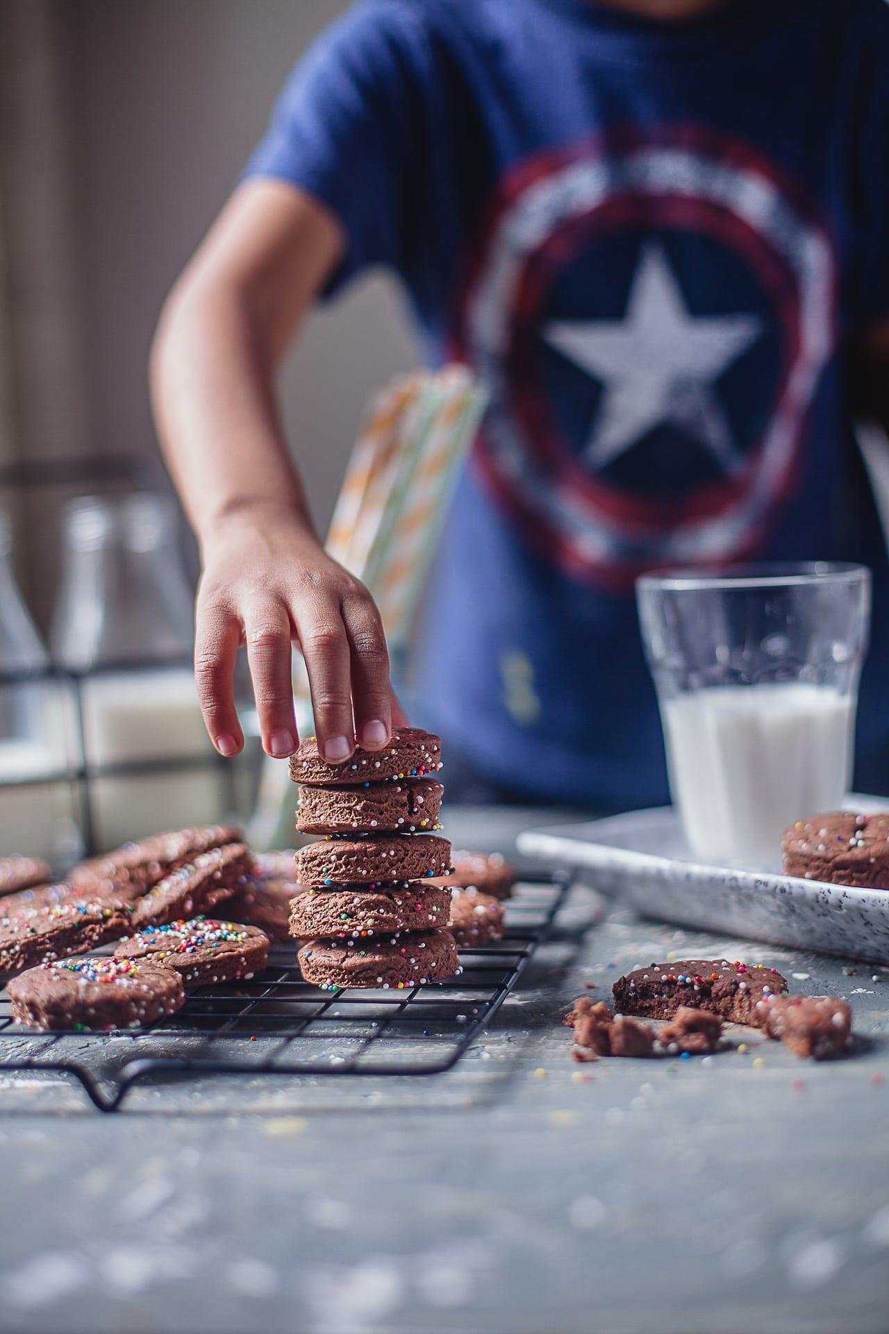 Chocolate Sprinkle Cookies | PlayfulCooking #bakingwithkids