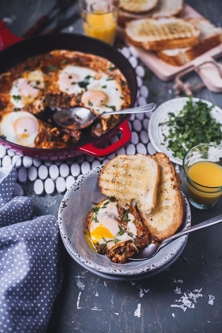 Indian Spiced Spinach Shakshuka   Playful Cooking