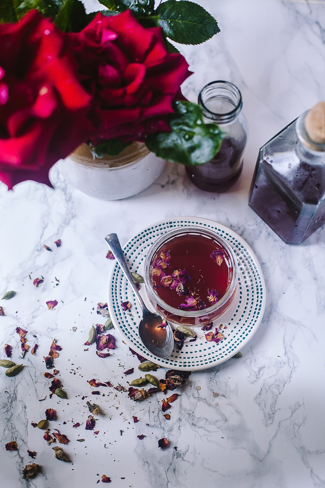 Rose Cardamom Syrup | Playful Cooking