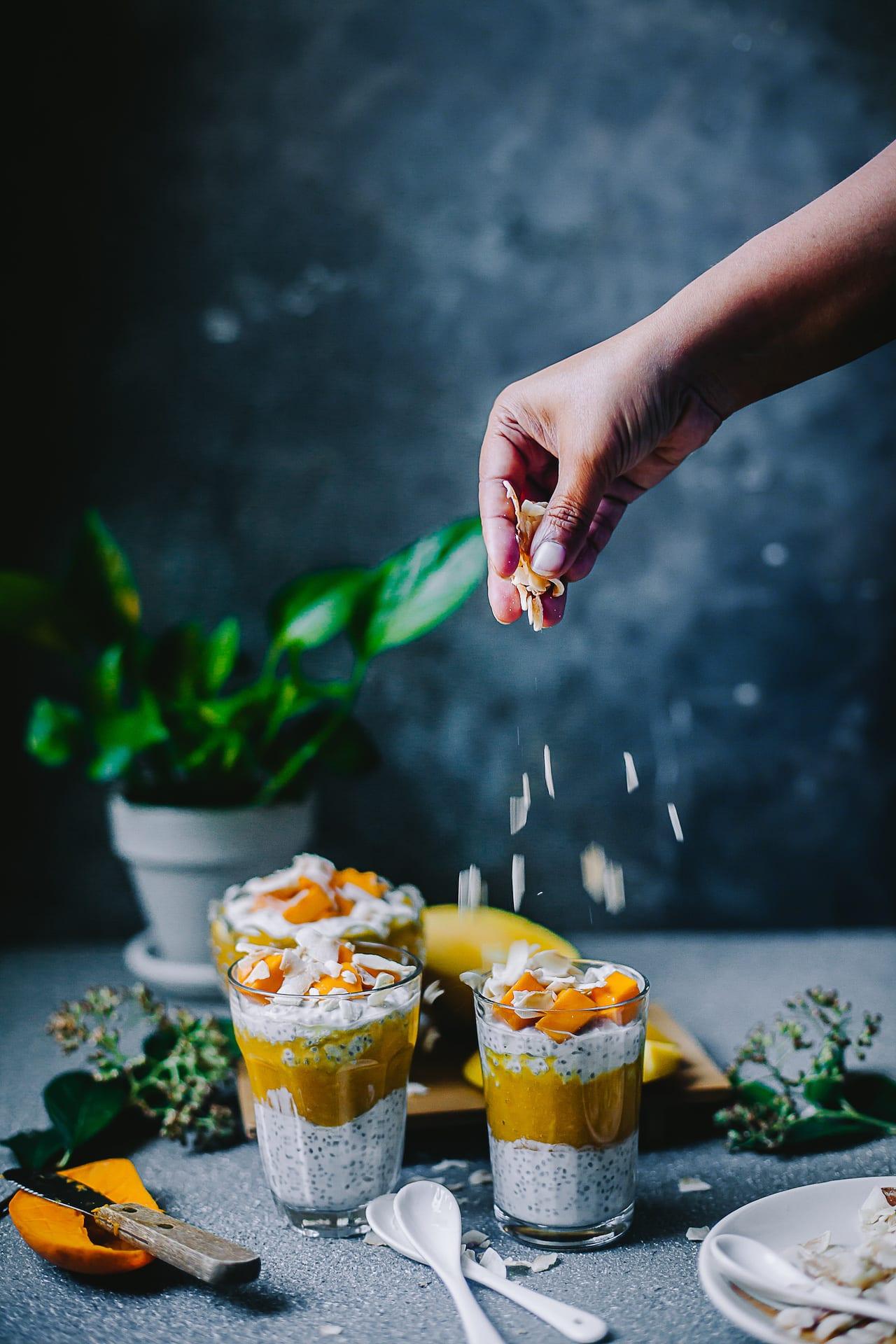 Chia Coconut Mango Pudding | Playful Cooking #chia #mango #breakfast #pudding #coconut