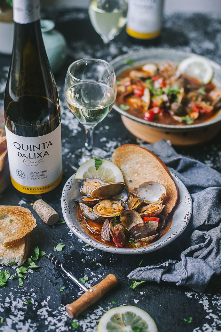 Portuguese spiced clams   Playful Cooking #foodphotography #wine #foodphotography #seafood #clams
