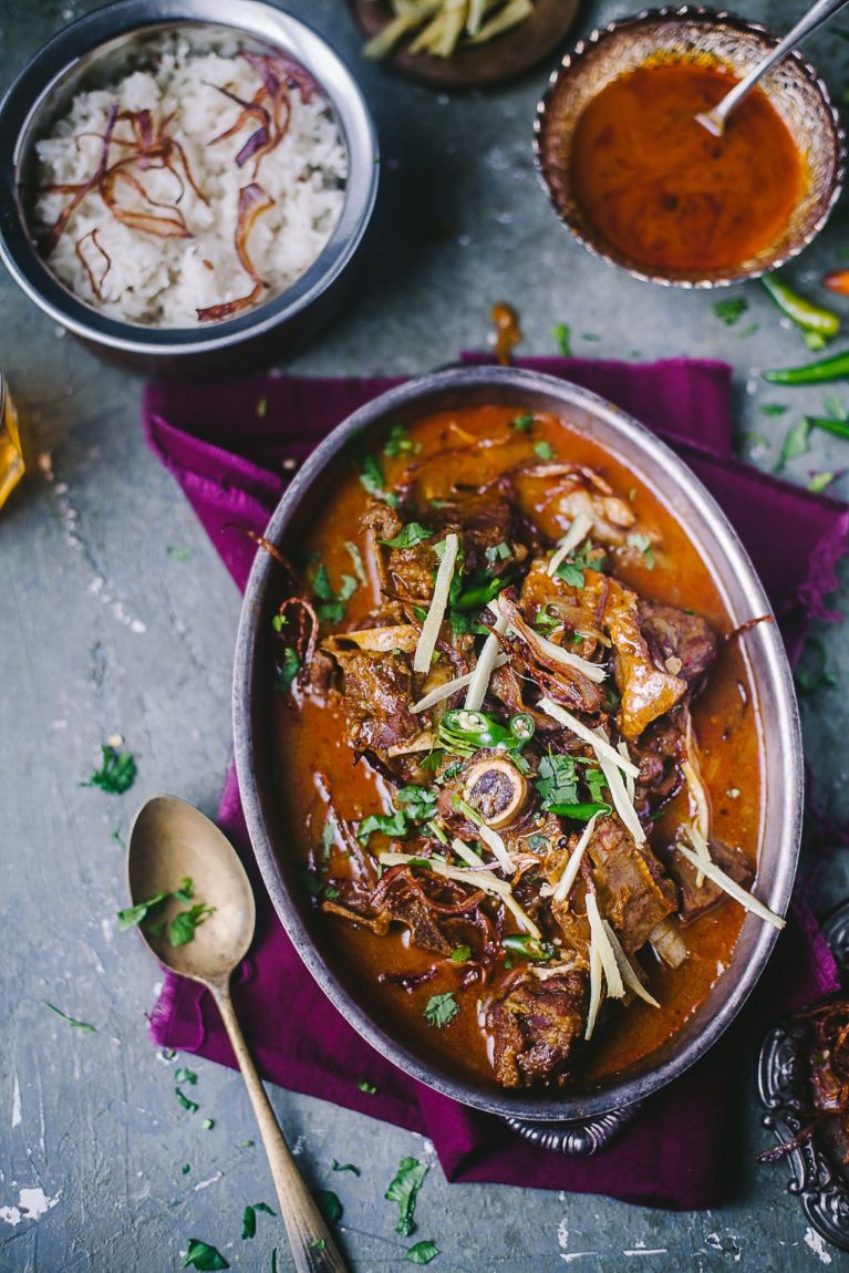 Mutton Nihari (Spiced Goat Stew)   Playful Cooking #indianfood #foodphotography #mutton #curry #meat