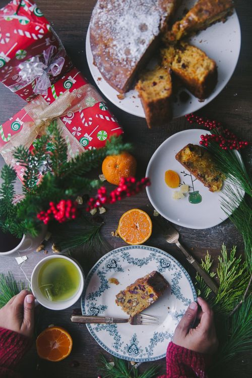 Carrot Orange Christmas Fruit Cake | Playful Cooking #cake #photography #christmascake #fruit #baking