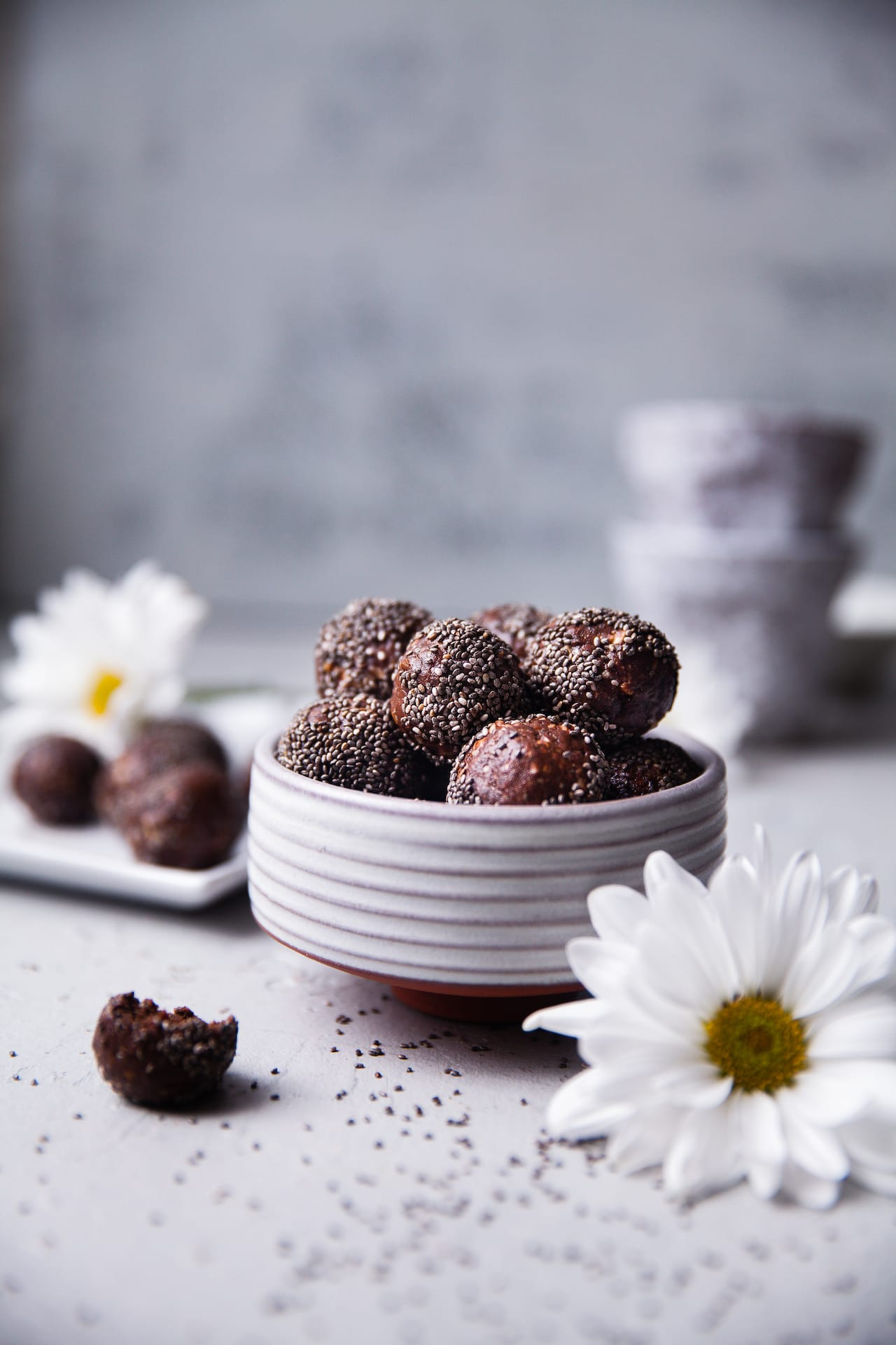 Cocoa Chia Nut Energy Balls | Playful Cooking #enerygyballs #chia #foodphotography #playfulcooking #nobake